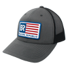 BR Flag Charcoal/ Black Trucker