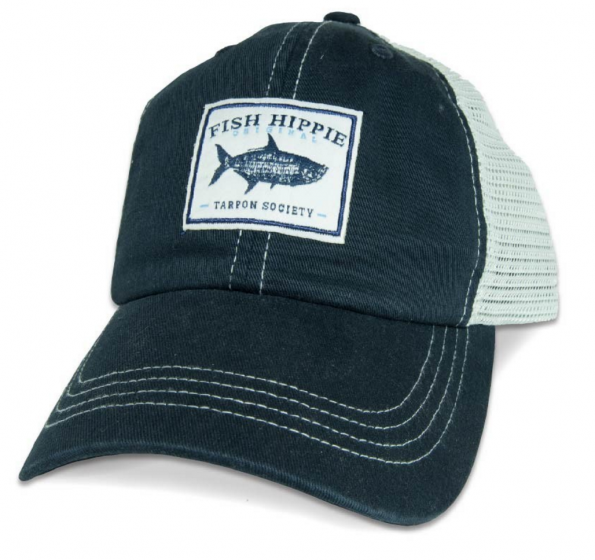 Fish Hippie Unstructured Tarpon Society Trucker Hat - Navy