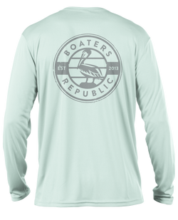 Pelican Stamp L/S - Performance Seagrass
