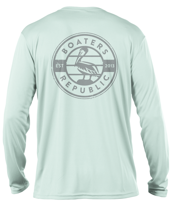 Pelican Stamp L/S - Performance Seafoam