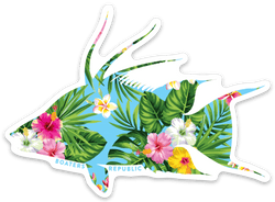 Blue Tropical Hogfish Decal