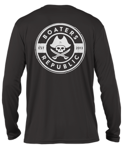 Pirate Stamp L/S - Performance Carbon