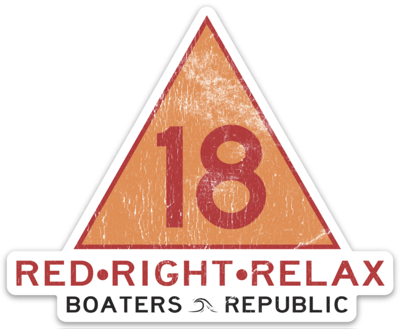 Red Right Relax Decal