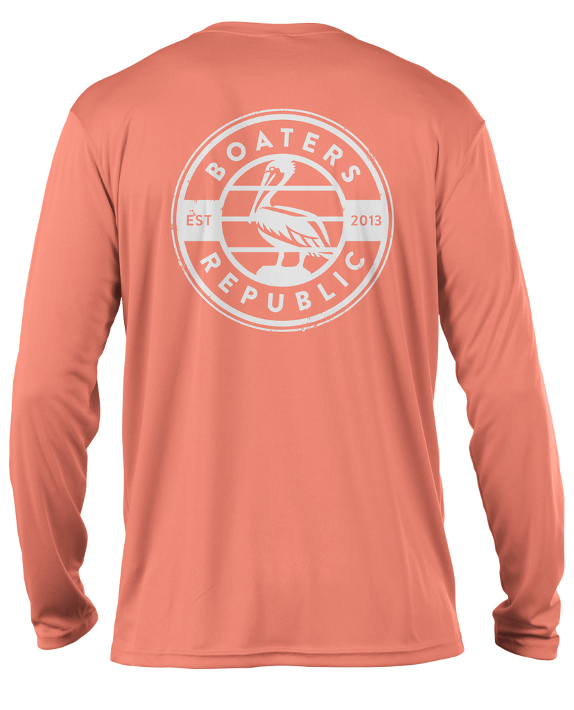 Pelican Stamp L/S - Performance Salmon