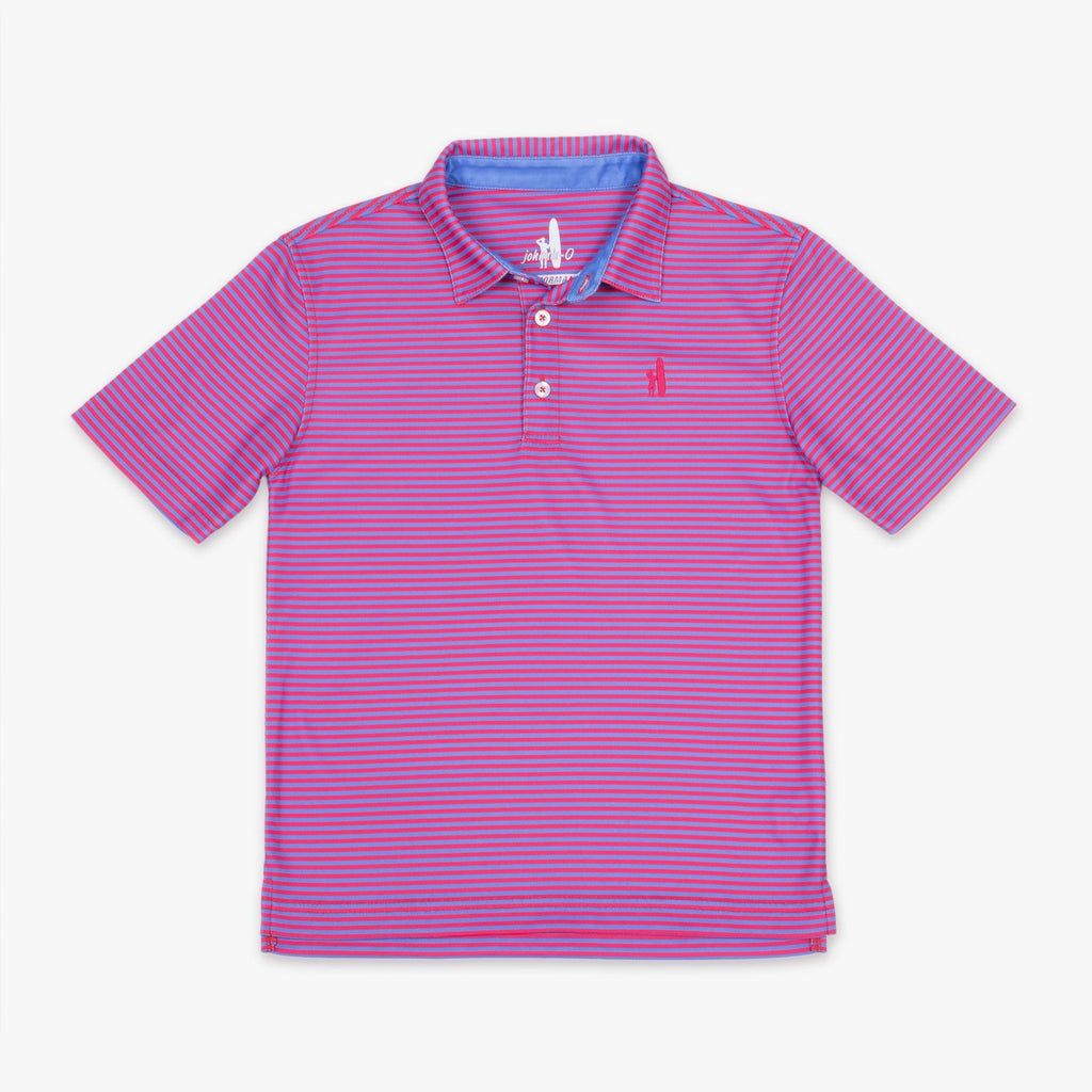 FRINGE PREP-FORMANCE DUAL-STRIPED JR. POLO - Vista/Paradise