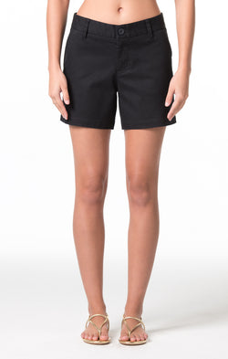 Denim Twill Cindy Short - Black