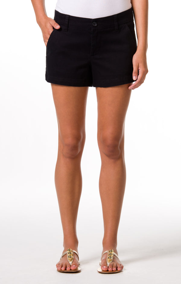 Denim Twill Sandi Short - Black
