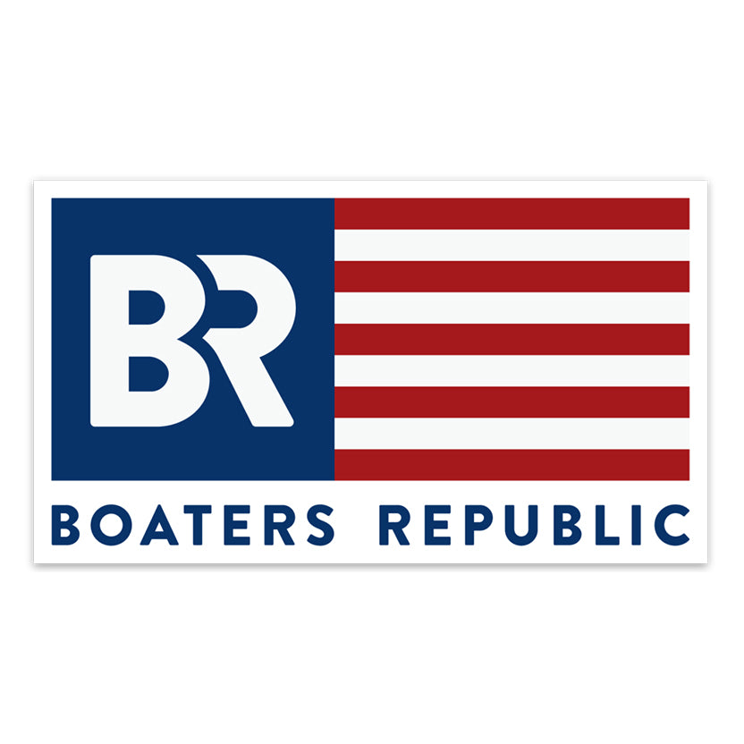 Boaters Republic BR Flag Decal - Boaters Republic