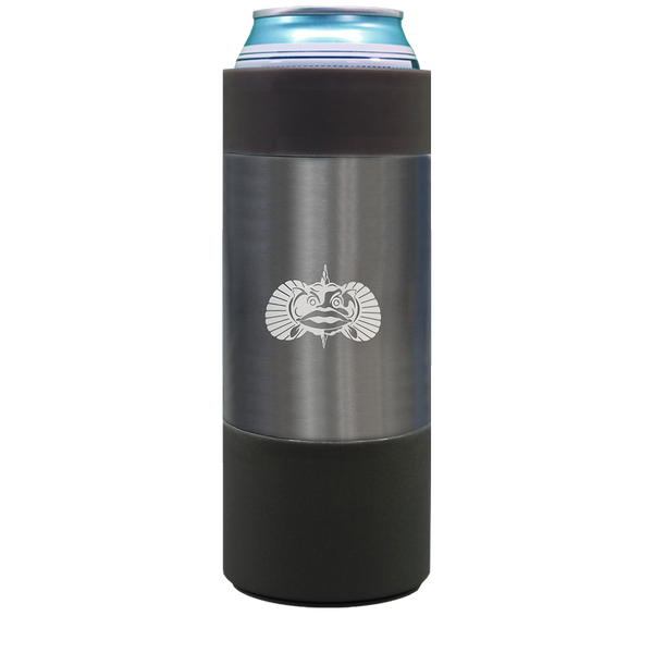 ToadFish Non-Tipping Slim Can Cooler - Graphite