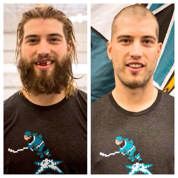 Brent Burns Goes Clean Shaven In NHL  94 Shirt For Charity - NHL ... 6a5f2516e