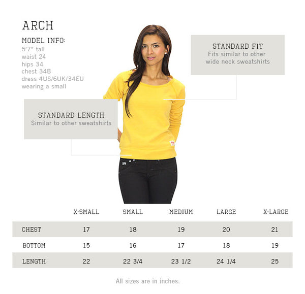 Sportiqe Womens Arch Wide Neck Sweatshirt
