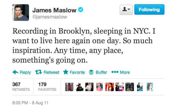 James Maslow Tweet About Brooklyn