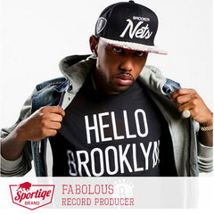 Fabolous in Hello Brooklyn Tee by Sportiqe