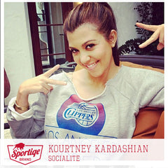 Kourtney Kardashian LA Clippers by Sporitqe