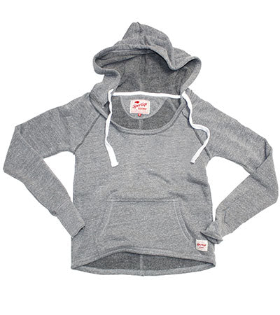 Womens Pullover Sweatshirt, Hooded, Hi Low