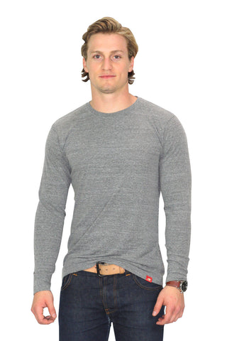 Sportiqe Long Sleeve Gray COMFY T-Shirt