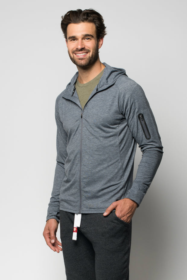Sportiqe Men's Apollo Jacket Gray