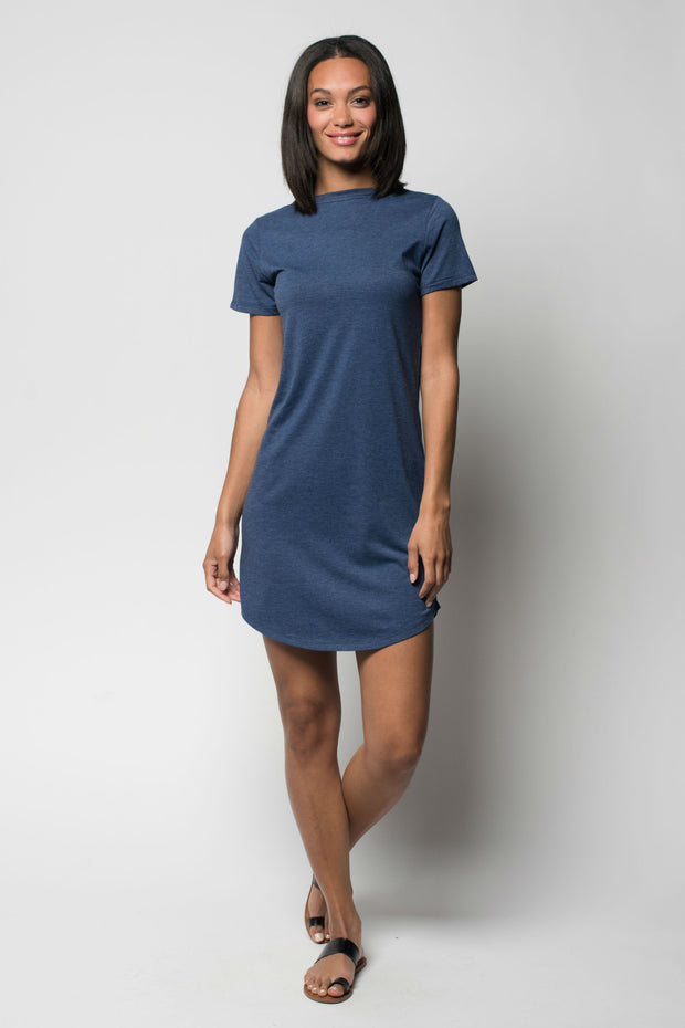 Sportiqe Women's Comfy T Dress Navy