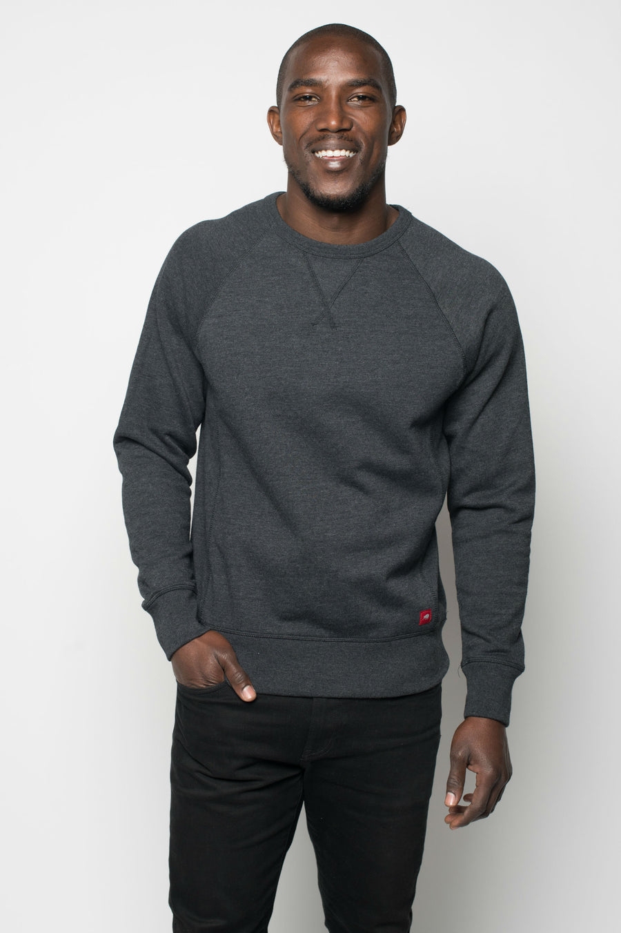 Sportiqe Men's Derek Crewneck Sweatshirt Black