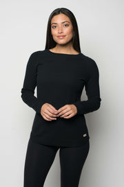 Sportiqe Women's Tegan Micro Thermal Black
