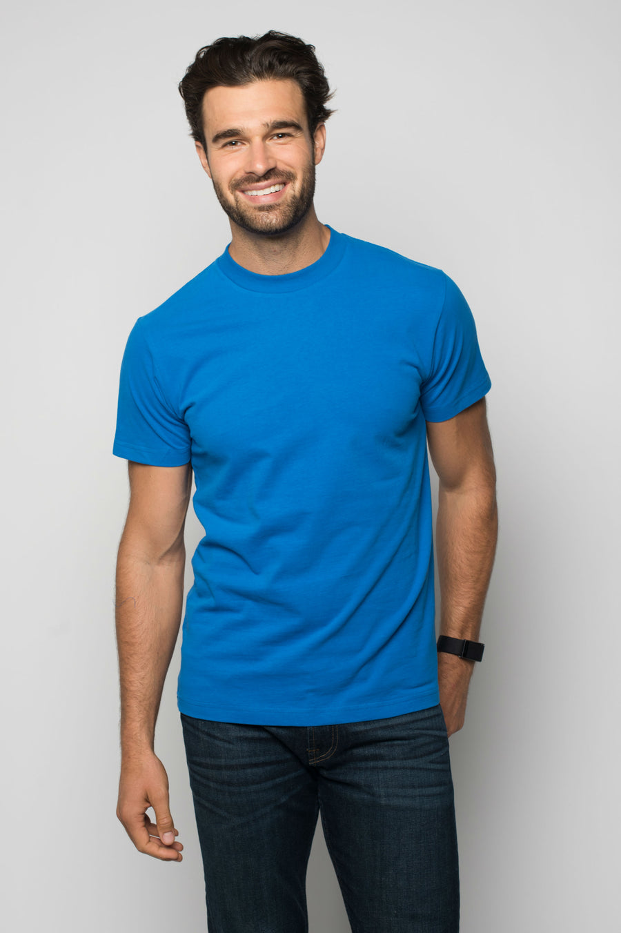 Sportiqe Men's Washed Sueded Cotton Shirt Royal