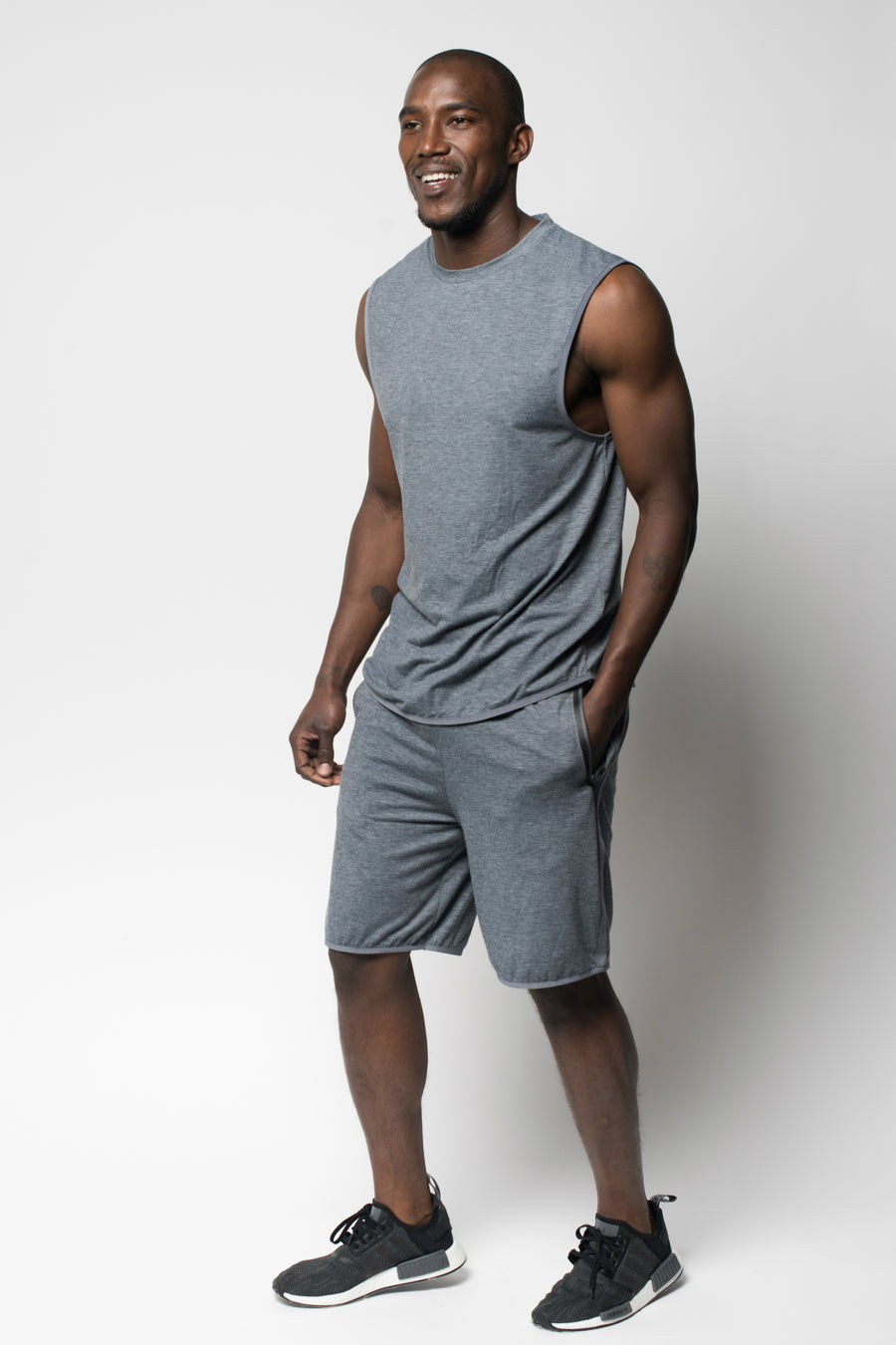 Sportiqe Men's Zeus Shorts Gray