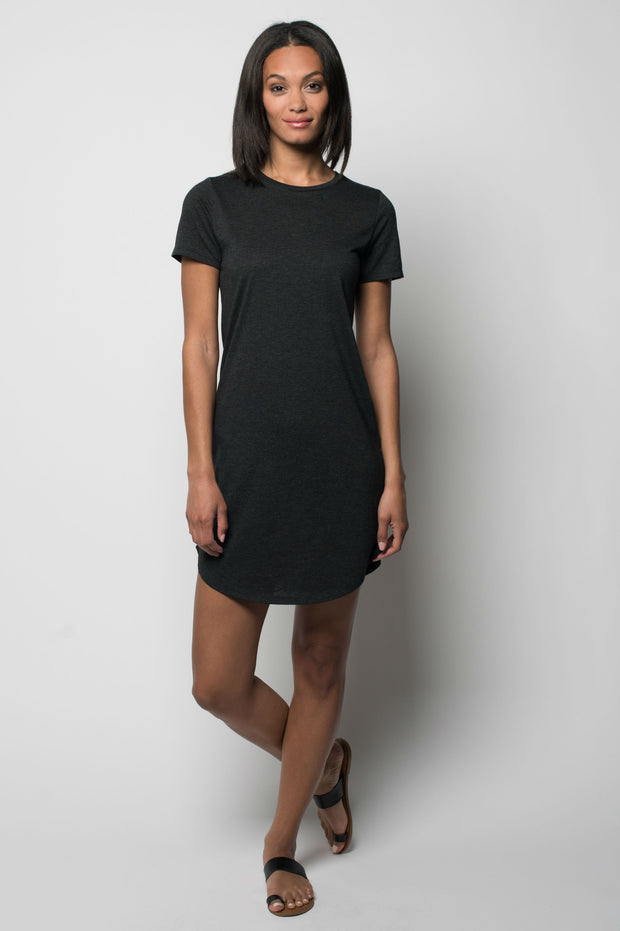 Sportiqe Women's Comfy T Dress Black