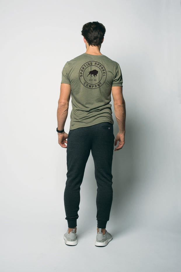 Sportiqe Gray Hollow Graphic Tee