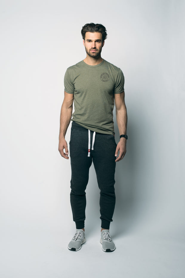 Sportiqe Military Green Hollow Graphic Tee