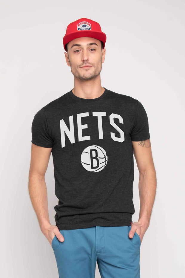 SPORTIQE BROOKLYN NETS GRAPHIC COMFY TEE