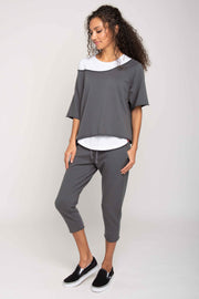 Sportiqe Women's Drift Cropped Short Sleeve Crewneck