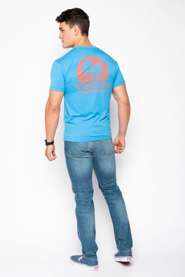 Sportiqe Coastal Blue Venice Graphic Tee