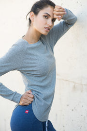 Sportiqe Women's Tegan Micro Thermal Gray