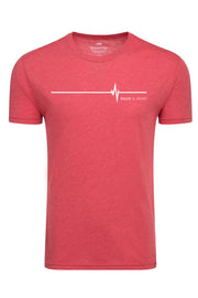 HALVE A HEART RED ADULT COMFY TEE