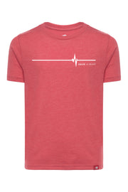 Halve A Heart Red Youth Comfy Tee