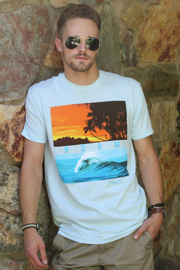 Sportiqe Men's Davis Ice Blue- Surf