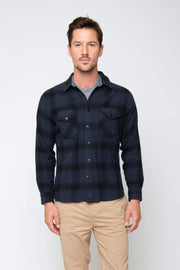 SARGE PLAID BUTTON UP FLANNEL