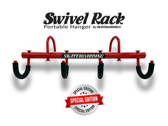 SkateHoarding® Swivel Rack Portable Skateboard Hanger Special Edition Red