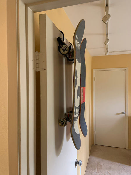 SkateHoarding® Swivel Rack Portable Skateboard Hanger