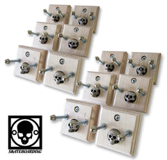12-Pack Skateboard Deck Wall Mount Hanger Display