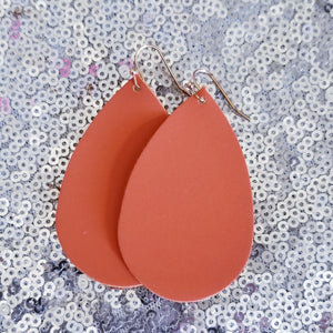 Orange Teardrop Earrings