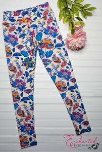 Floral One Size Leggings
