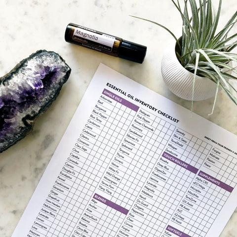 2019 Oil Inventory Sheet - doterra Convention Updates Included