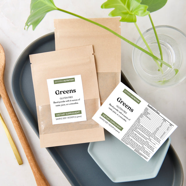 Greens Sample Pouches + Labels