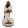 Anoush white tie front wedding shoes