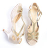 Bella ivory butterfly wedding shoe