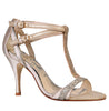 Carmen ivory glitter t-bar wedding sandal