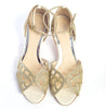 Karis cream kitten heel wedding shoes