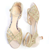 Karis ivory kitten heel wedding shoes
