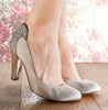 Lara ivory satin cone heel wedding shoes